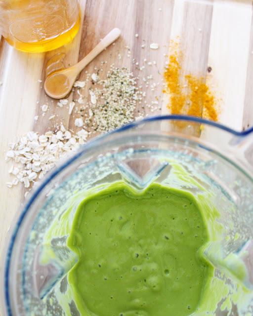 Delirios de Cocina - Smoothie verde de mango y piña