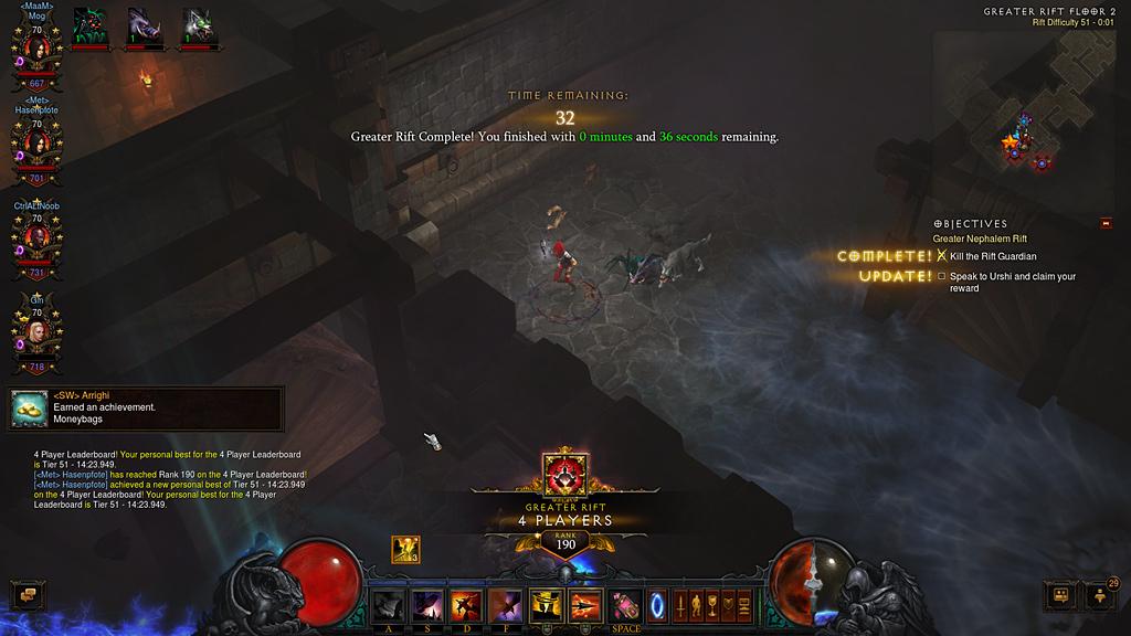 ぶろぐ: 【Diablo3】GR51記録更新しましたー!