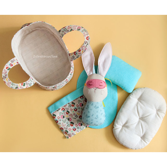 baby bunny doll Moses basket patterns
