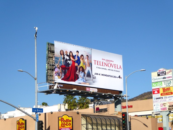 Telenovela series launch billboard