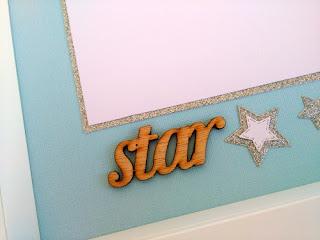 shadow frame, little star, παιδική κορνίζα