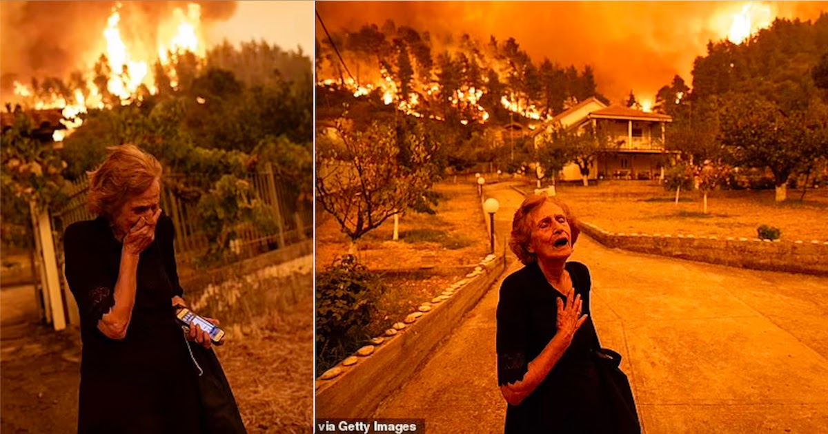 81-Year-Old Greek Woman Whose Picture Became The New Face Of Global Warming, Speaks Out About Her Terror After Losing Sight Of Her Husband During The Wildfires In Evia