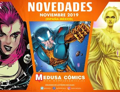 Novedades noviembre 2019 de Medusa Cómics.