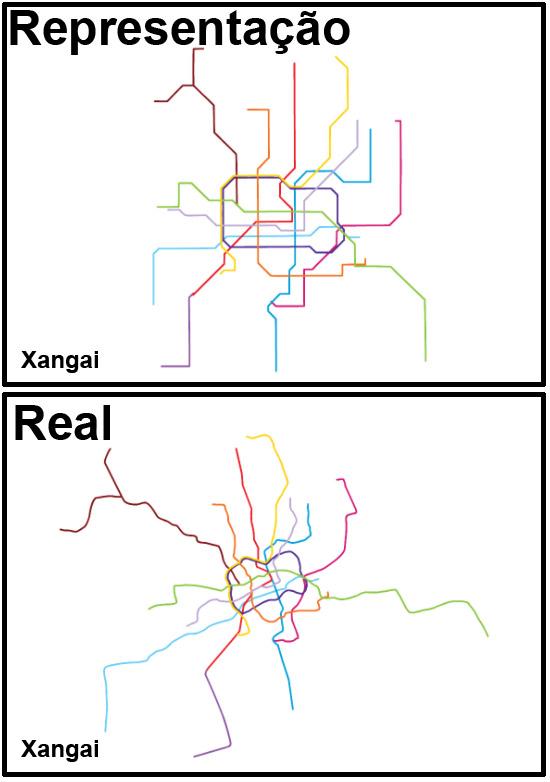 Mapas de Metros do mundo - Xangai