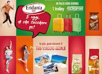 Logo Eridania ''E oggi di che zucchero sei?: vinci 91 trolley e voucher viaggio