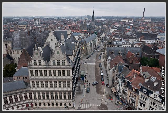Vistas de Gante desde Torre Belfort Gante