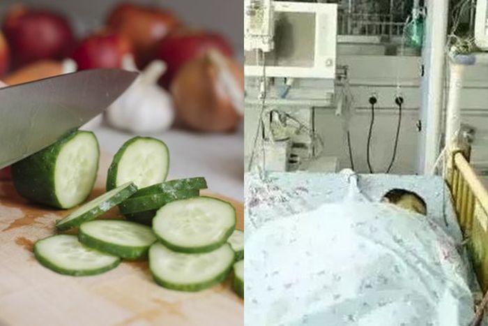 Hanya karena Makan Mentimun yang Disimpan di Kulkas, Bocah 4 Tahun ini Kritis Hingga Dilarikan ke Rumah Sakit. Kolase Grid.ID
