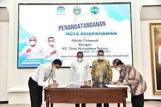 PDAM Tirtanadi Jalin MoU dengan Pihak Swasta Bangun IPAM di Wilayah Medan Johor.