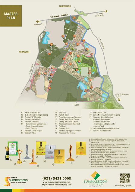 masterplan scientia garden summarecon