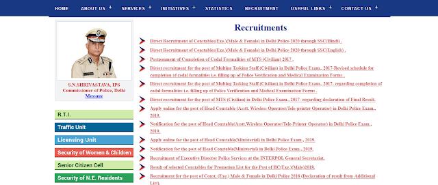 Delhi Police Constable Syllabus in hindi