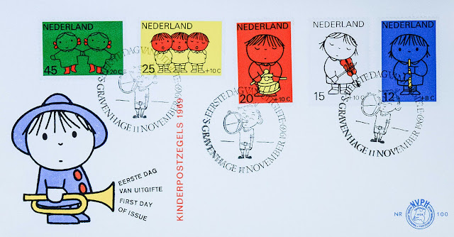 Children, Cartoon, Dick Bruna, Netherlands Stamps FDC