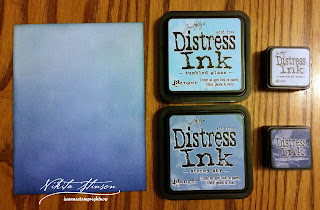 Monochromatic Blue Distress Inked Background