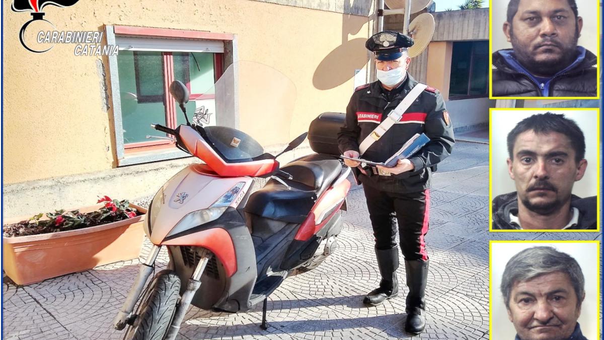 Furto scooter Carabinieri Tremestieri Etneo