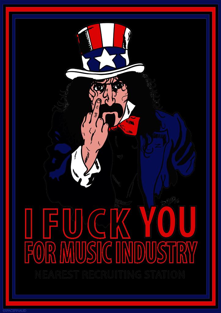A la base, je voulais dessiner la crêche de Noël, version rock'n'roll avec Hendrix,Morrison etJoplin en rois mages et peut être Lemmy en Jesus bébé alcoolique, fan de Jack Daniels... Mais au final, ça m'a gonflé et je me sentais pas de le faire. Peut être que je le ferai pour l'année prochaine, sait-on jamais.  Hier, ayant appris l'anniversaire de Frank Zappa (21 décembre, il aurait fêté ses 76 ans), j'ai eu l'idée de le dessiner. Rien à voir avec Noël, mais on pourrait dire que Frank Zappa, c'était un peu le Père Noël de la musique car tout au long de sa carrière, il nous offrait énormément de cadeaux musicaux avec des albums avec son premier groupe les Mothers Of Invention, comme Freak Out !, Absolutely Free, We're Only In It For The Money. Ensuite, Hot Rats 200 Motels, Over-Nite Sensation, Apostrophe, Bongo Fury, Sheik Yerbouti... Et encore je n'ai cité que les meilleurs. Y'en a tellement que même après son décès en 93 à l'âge de 52 ans, ses albums inédits continuent de sortir.  J'ai une préférence pour Freak Out ! et le film Baby Snakes, un concert enregistré à New York en 77 le soir d'Halloween.  Pour changer de sujet, c'est mon dernier dessin de l'année, en vous souhaitant à toutes et à tous, d'excellentes fêtes !