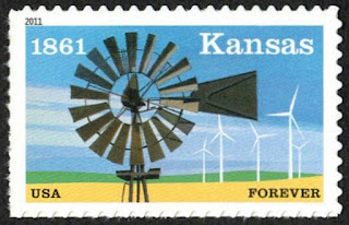 USA (44c) Kansas Statehood 2011
