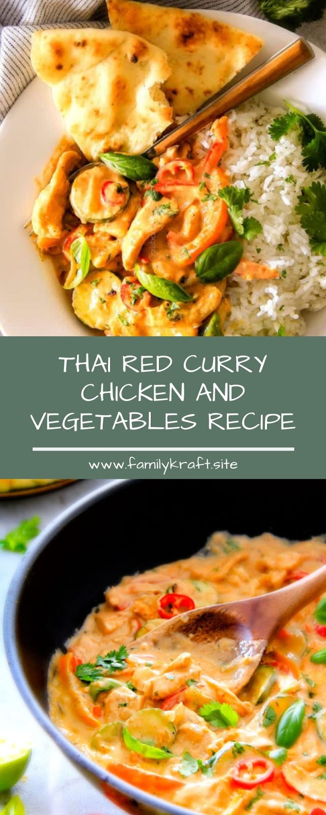 THAI RED CURRY CHICKEN AND VEGETABLES RECIPE
