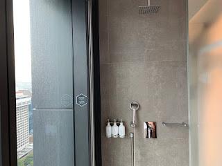 YOTEL rain shower