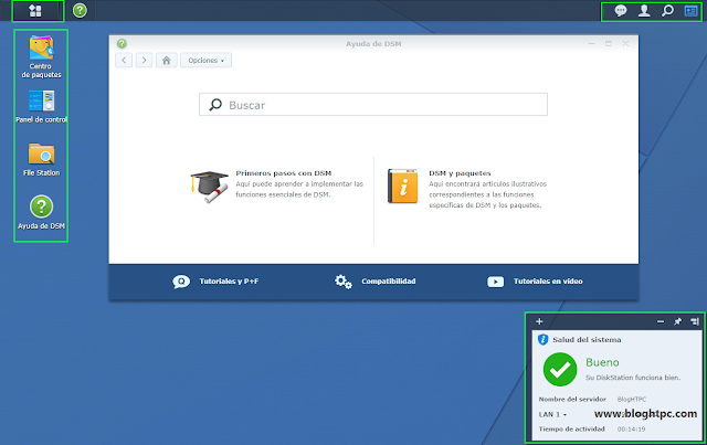 Escritorio Synology DiskStation Manager