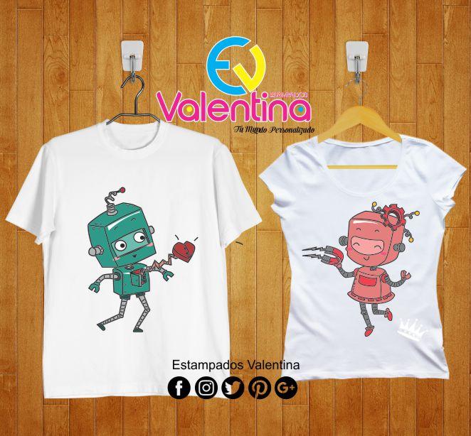 f9af8e23d3aae camisetas para enamorados camisetas robots enamorados