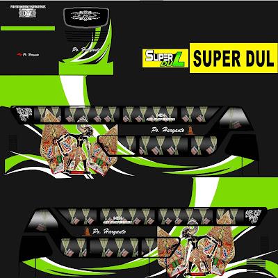 tema bus sdd po haryanto wayang hijau
