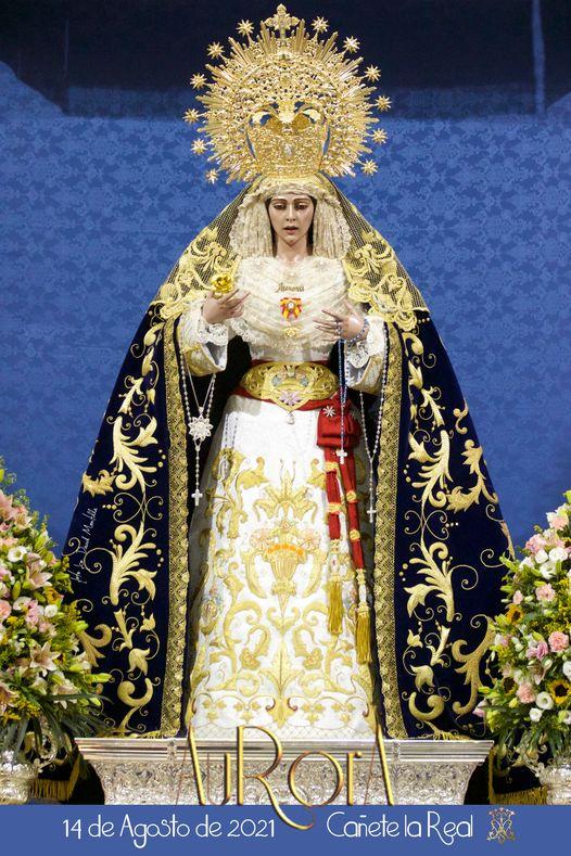 Cartel y cultos de la Virgen de la Aurora de Cañete la Real 2021