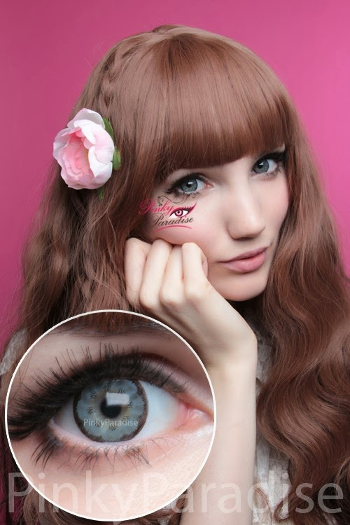 EOS Big Flower Grey Circle Lenses (Colored Contacts)