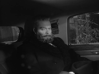 Orson Welles as Gregory Arkadin in Mr. Arkadin, Directed by Orson Welles