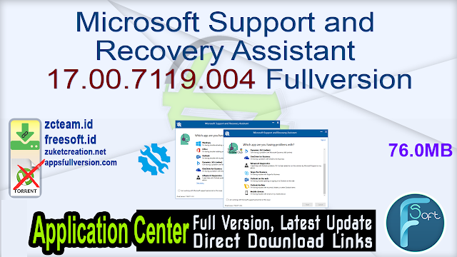 Microsoft Support and Recovery Assistant 17.00.7119.004 Fullversion