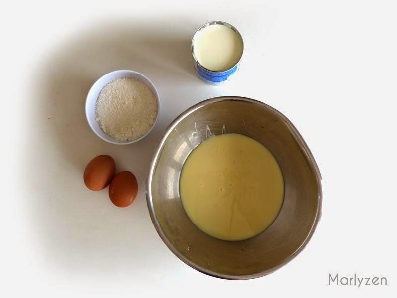 Ingrédients pour flan coco
