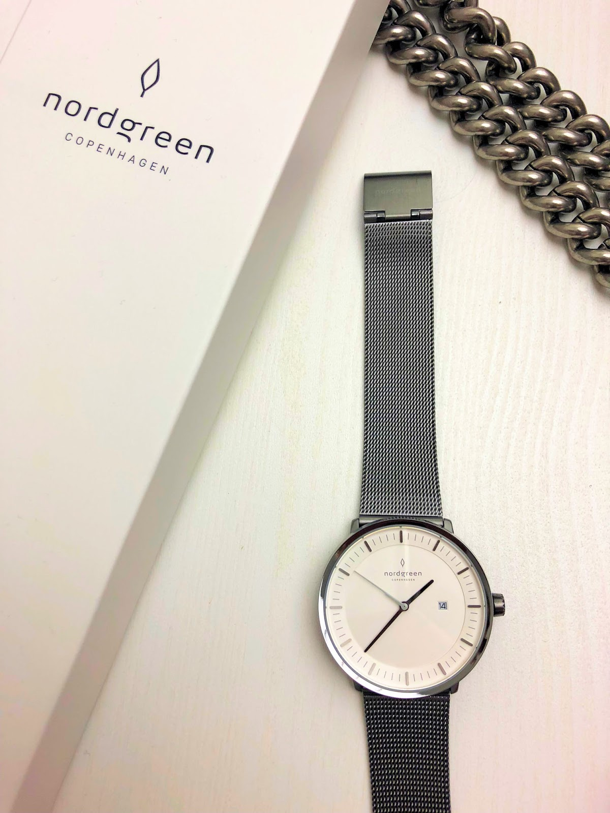 Nordgreen watches: Philosopher Gun Metal Mesh watch review on Fashion and Cookies fashion blog, fashion blogger style