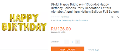 Lazada Birthday Festival Blogger Contest, Birthday Festival Sale, Lazada Malaysia, Anniversary Lazada Yang Ke - 6, Blogger Contest By Lazada, April, 2018, Birthday Balloons Party Decoration,