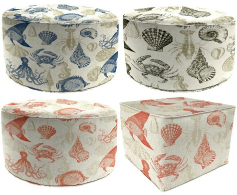 Small Sea Life Coastal Ottomans from Target