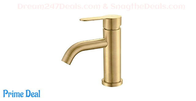 50% OFF Brushed Gold Bathroom Faucet
