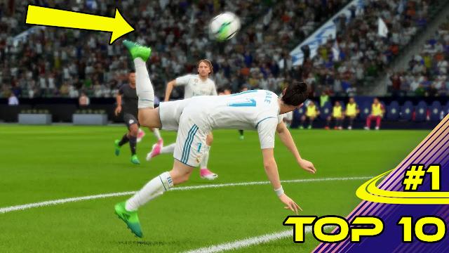 أفضل وأجمل 10 أهداف في لعبة فيفا 18 | خرااافية!!