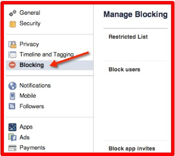 how to block person on facebook