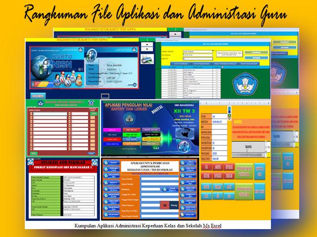 Rangkuman File Aplikasi dan Administrasi Guru SD,SMP,SMA Terlengkap