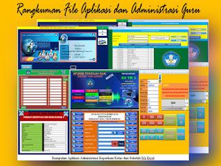 36 File Aplikasi dan Administrasi Guru Format Excel