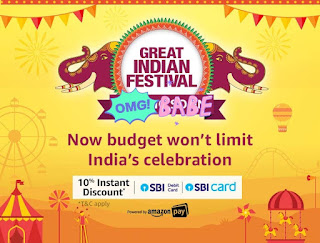 Amazon Great Indian Festival Offer 25th September, 2019