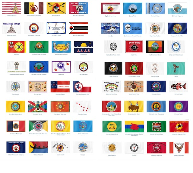 All of the Native American Flags at one Place   Flags of Native Americans in the United States