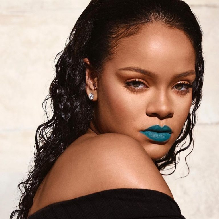 Rihanna stuns in Turks & Caicos shade from Fenty Beauty Mattemoiselle lipstick line