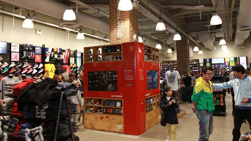 super popular 30818 82035 New Balance Kiosk for 574 Customization at Foot Locker in ...
