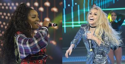 Iza e Joelma. Crédito: Divulgação/ Record TV