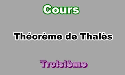 Cours théorème de Thalès 3eme en PDF