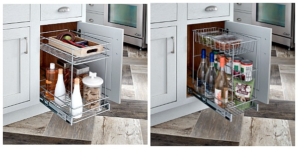 Enter to win both of these pull-out basket organizers from ClosetMaid featured on Walking on Sunshine.