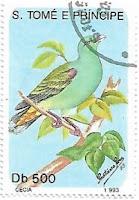Selo Pombo-verde-de-são-tomé