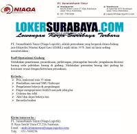 Info Lowongan Kerja Surabaya di PT. Saranabhakti Timur Terbaru Desember 2019