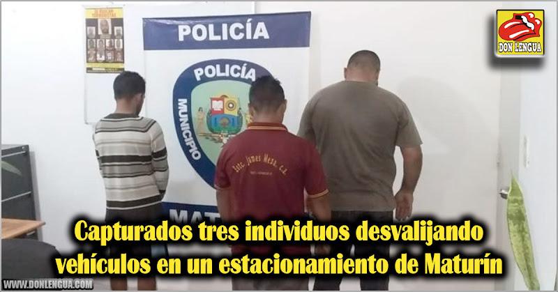 Capturados tres individuos desvalijando vehículos en un estacionamiento de Maturín
