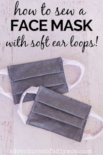 how to sew a face mask with soft ear loops