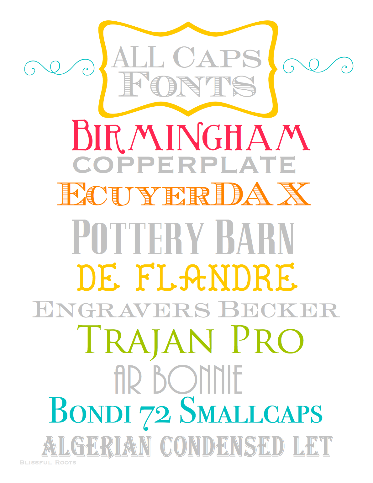 BLISSFUL ROOTS: Ten Free ALL CAPS Fonts