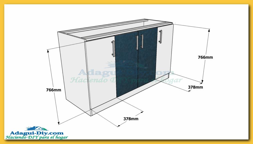 Medidas para instalar muebles de cocina for Disenar plano cocina